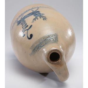 A J.C. Waelde New York Two-Gallon Stoneware Jug with Cobalt Deer
