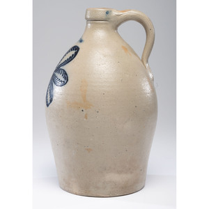 A Fine Stetzenmeyer Two-Gallon Stoneware Flower Crock
