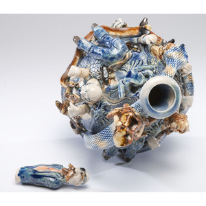 """A Whimsical """"Temperance"""" Stoneware Jug by Mitchell Grafton"""