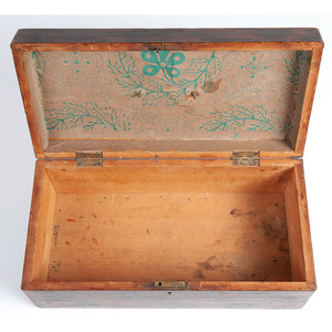 A Paint Decorated Document Box