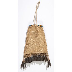 Central Plains Beaded Hide Bag, with Iktomi
