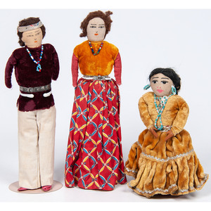 Group of Navajo Dolls