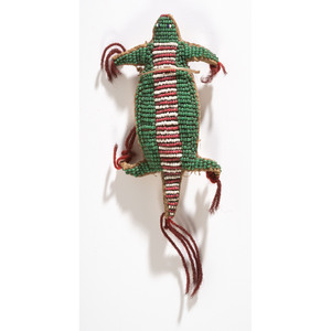 Sioux Beaded Turtle Cradle Drops and Umbilical Amulet, From the Collection of Robert P. Jerich, Illinois