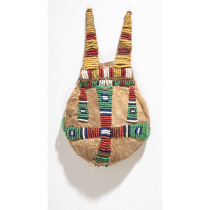 Cheyenne Beaded Hide Charm Bag, From the Collection of Robert Jerich, Illinois
