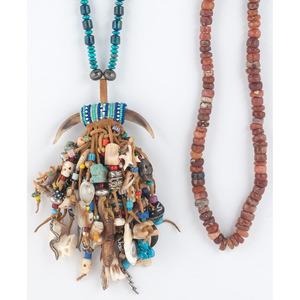 (Cincinnati) Pair of Beaded Tribal Necklaces