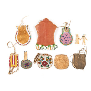 A Collection of Beaded Pouches