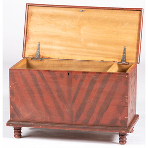 A Federal Paint Decorated Poplar Blanket Chest