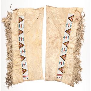Sioux Beaded Hide Leggings