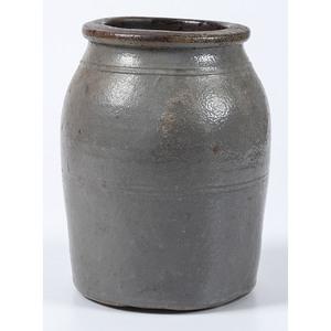 A One Gallon Cobalt Decorated Stoneware Crock