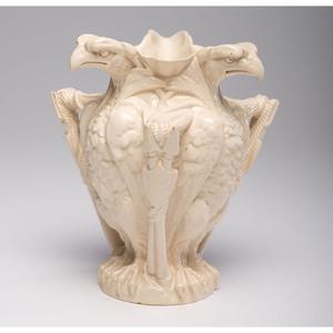 A Centennial Memorial Porcelain Vase by W.T. Copeland & Sons