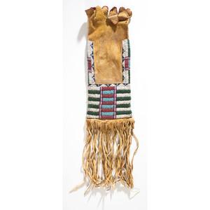 Cheyenne Beaded Hide Tobacco Bag