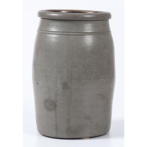 A Rare Punxsutawney, Pennsylvania Two Gallon Stoneware Merchant's Jar