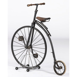 A Child's Cast-Iron Bone Shaker Bicycle