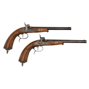 A Pair of German Percussion Dueling Pistols