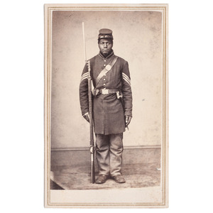 Joseph Taylor, 108th USCT CDV, Rock Island, Illinois, circa 1863