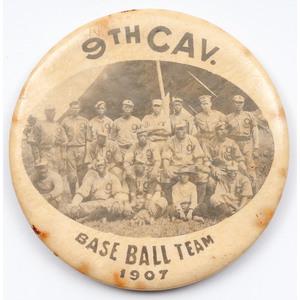 Buffalo Soldier Baseball Teams, Circa 1910 Oversize Photograph and 1907 Mirror
