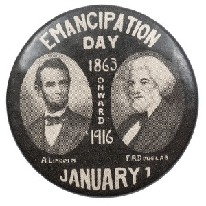 Emancipation Day Pinback, 1916