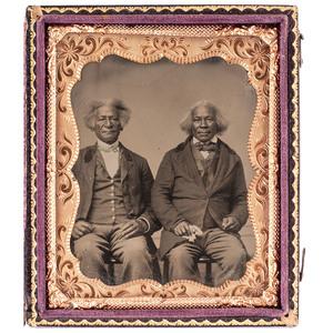 Two Elderly African American Gentlemen Tintype, circa 1870s