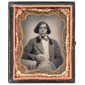 Tintype of an African American Gentleman Holding a Book, circa 1870