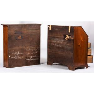 A Federal Mahogany Slant-Front Desk-and-Bookcase