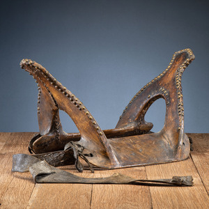 Central Plains Tacked Saddle, From an Estate in Sinking Springs, Ohio