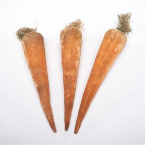 Three Velvet Carrot Pin Cushions