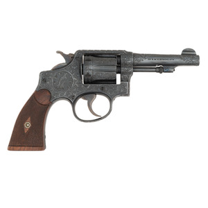 **Engraved Smith & Wesson Military & Police 4th Change (M1905) Revolver to George A. Willhauck