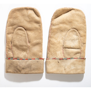 Cree Quilled Hide Mittens