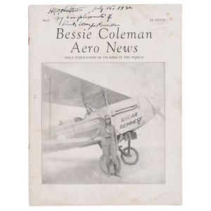 Bessie Coleman Aero News Vol. 1 Issue 1, May 1930, Signed by William J. Powell