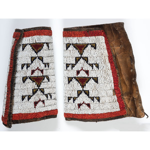Sioux Beaded Hide Cuffs, From the Collection of Nick and Donna Norman, Colorado