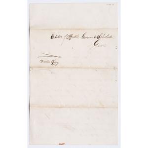 Letter Offering $100.00 Reward for Return of Missing Slave
