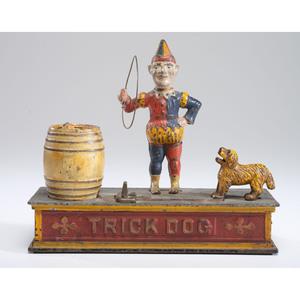 A Trick Dog Cast Iron Mechanical Bank