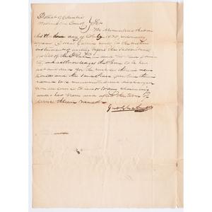Slave Bill of Sale, Washington DC, 1830