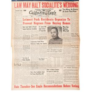 California Eagle, June 5-October 19, 1950, Bound Volume