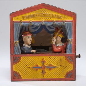 A Punch and Judy Cast Iron Mechanical Bank