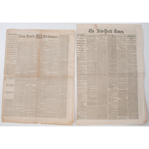 1861 Newspapers, Including Pre-War and Homefront, Featuring New York Times Commentary on Evolving CSA Government
