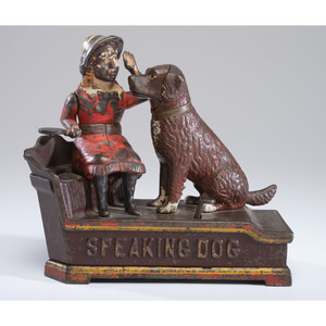 A Speaking Dog Cast Iron Mechanical Bank