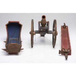 Three Painted Wood Toys
