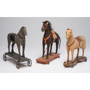 Three Horse Pull Toys