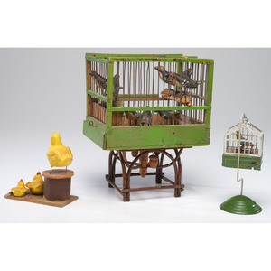 Two Bird Carvings and Toy