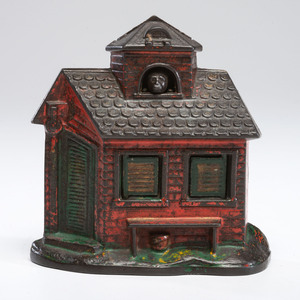 A Cast Iron Mechanical Zoo Bank