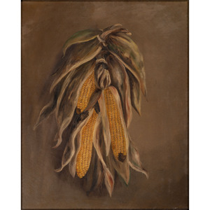 An American Corn Still Life in the Manner of Alfred Montgomery