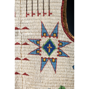Cheyenne River Sioux Beaded Pictorial Hide Vest