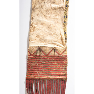 Sioux Quilled and Beaded Deer Hide Tobacco Bag, From the Collection of Nick and Donna Norman, Colorado