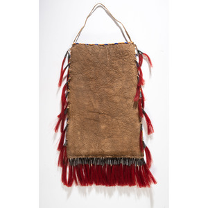Sioux Quilled and Beaded Elk Dreamer Society Bag, From the Collection of Nick and Donna Norman, Colorado