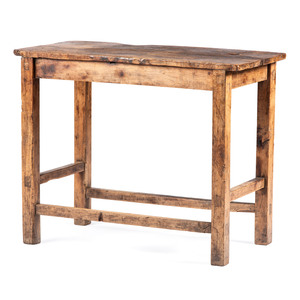 A Maple and Walnut Primitive Work Table