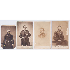 Four Different CDVs of Ulysses S. Grant