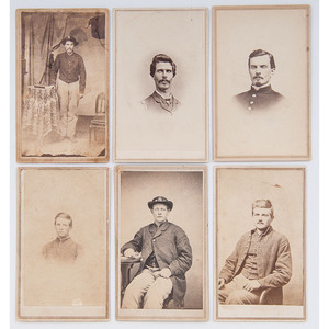 Six CDVs of Unidentified Federal Enlisted Men