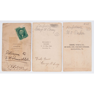 Three CDVs of Identified Federal Enlisted Men