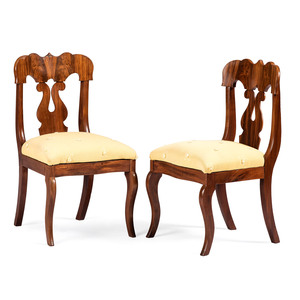 A Pair of Victorian Mahogany Side Chairs